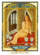 Four of Cups Tarot card in Lovers Path deck