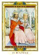 The Emperor Tarot card in Lovers Path Tarot deck