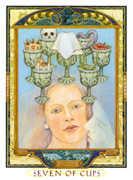 Seven of Cups Tarot card in Lovers Path Tarot deck