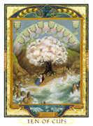 Ten of Cups Tarot card in Lovers Path Tarot deck