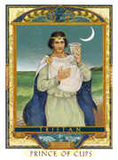Knight of Cups Tarot card in Lovers Path deck