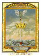 Ace of Swords Tarot card in Lovers Path Tarot deck