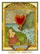 Three of Swords Tarot card in Lovers Path Tarot deck