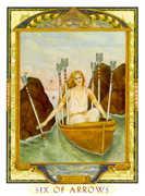 Six of Swords Tarot card in Lovers Path Tarot deck