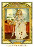 Seven of Swords Tarot card in Lovers Path Tarot deck