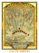 Ten of Swords Tarot card in Lovers Path Tarot deck