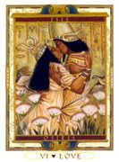 The Lovers Tarot card in Lovers Path Tarot deck