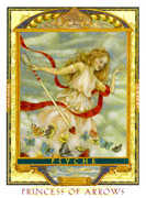Page of Swords Tarot card in Lovers Path deck