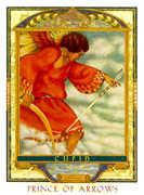 Knight of Swords Tarot card in Lovers Path Tarot deck