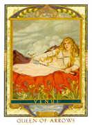 Queen of Swords Tarot card in Lovers Path deck