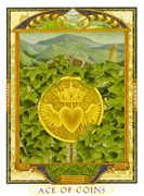 Ace of Coins Tarot card in Lovers Path Tarot deck