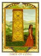 Three of Coins Tarot card in Lovers Path Tarot deck