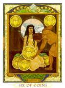 Six of Coins Tarot card in Lovers Path Tarot deck