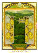 Ten of Coins Tarot card in Lovers Path deck