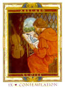 The Hermit Tarot card in Lovers Path deck
