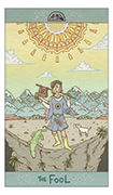 The Fool Tarot card in Luna Sol deck