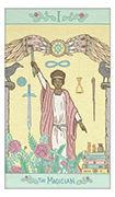 The Magician Tarot card in Luna Sol deck