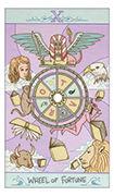 Wheel of Fortune Tarot card in Luna Sol deck