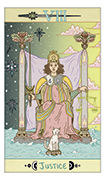 Justice Tarot card in Luna Sol deck