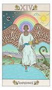 Temperance Tarot card in Luna Sol deck