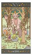 The Devil Tarot card in Luna Sol deck