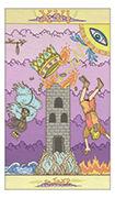 The Tower Tarot card in Luna Sol deck