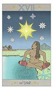 The Star Tarot card in Luna Sol deck