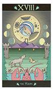 The Moon Tarot card in Luna Sol deck