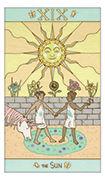 The Sun Tarot card in Luna Sol deck