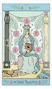 The High Priestess Tarot card in Luna Sol deck