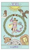 The World Tarot card in Luna Sol deck