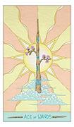 Ace of Wands Tarot card in Luna Sol deck