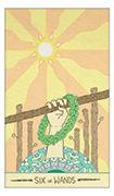 Six of Wands Tarot card in Luna Sol deck