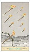Eight of Wands Tarot card in Luna Sol deck
