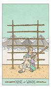 Nine of Wands Tarot card in Luna Sol deck