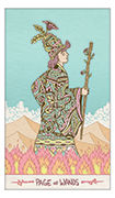 Page of Wands Tarot card in Luna Sol deck