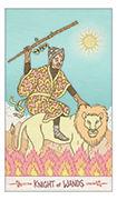 Knight of Wands Tarot card in Luna Sol deck