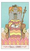 Queen of Wands Tarot card in Luna Sol deck