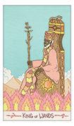 King of Wands Tarot card in Luna Sol deck