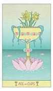 Ace of Cups Tarot card in Luna Sol deck