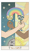 Two of Cups Tarot card in Luna Sol deck