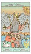 The Emperor Tarot card in Luna Sol deck