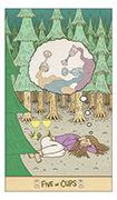 Five of Cups Tarot card in Luna Sol deck