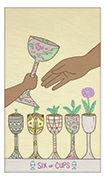 Six of Cups Tarot card in Luna Sol deck