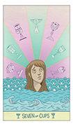Seven of Cups Tarot card in Luna Sol deck
