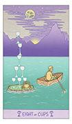 Eight of Cups Tarot card in Luna Sol deck