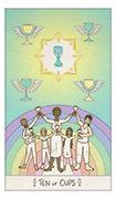 Ten of Cups Tarot card in Luna Sol deck