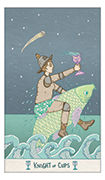 Knight of Cups Tarot card in Luna Sol deck