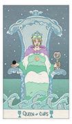 Queen of Cups Tarot card in Luna Sol deck