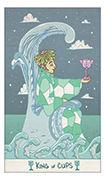 King of Cups Tarot card in Luna Sol deck